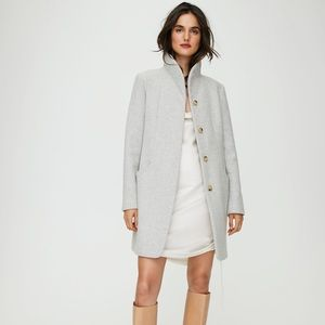 Aritzia Cocoon Wool Coat Heather White Wilfred